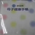 母子健康手帳35・水玉(ピンク黄緑青)